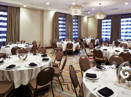 Meeting Room Social Event Set Up