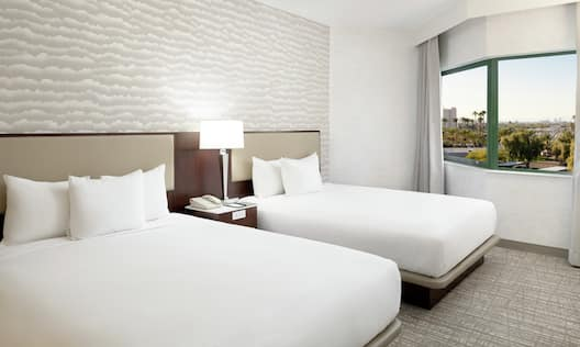 Guestroom Suite with Two Queen Beds and Outside View