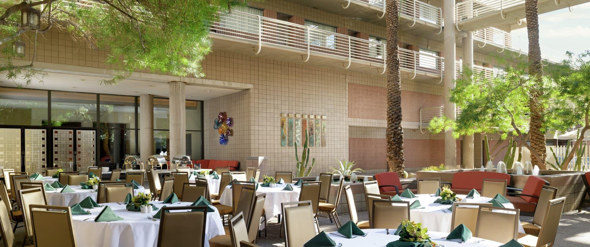 Hotel Outdoor Meeting Area