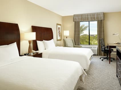 Double Queen Bedroom With Outside View