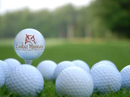 Golf Balls with Lookout Mountain Logo