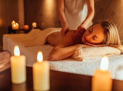 spa massage with guest
