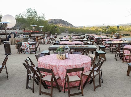 Outdoor Meeting Space with Banquet Setup