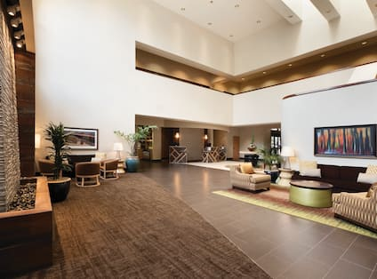 Front Desk and Lounge Seating in Lobby