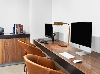 Office area with computers