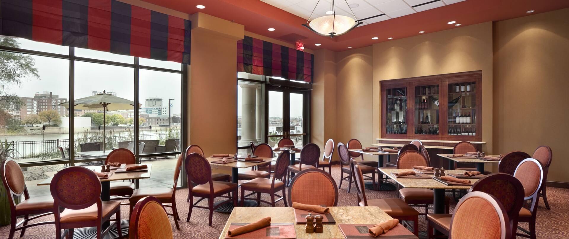 Riverside Café with View
