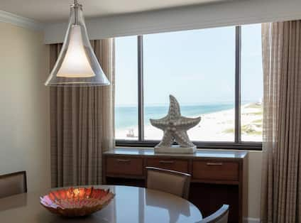 Suite Dining Area and Beach View