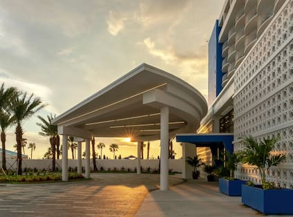 Hotel Exterior at Sunset