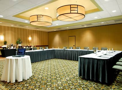 Meeting Room with U-Shaped Conference Table