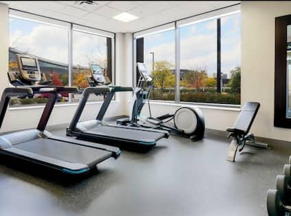 Cardio machines in fitness center