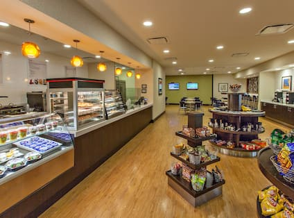 Marketplace Bistro  With Snacks and Convenience Items for Guest Purchase