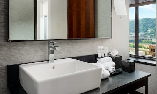 Close-Up of Bathroom Vanity