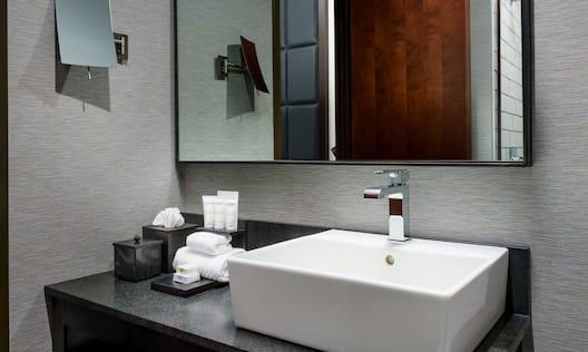 Close-Up of Guest Bathroom Vanity