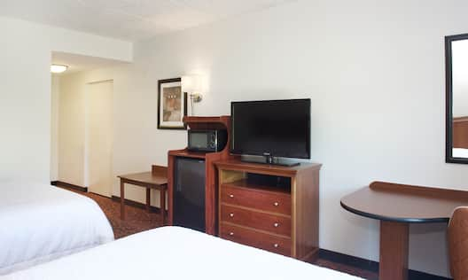 Standard Doubles Beds with TV