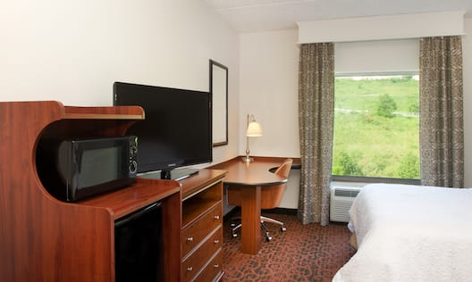 Standard King Bed and TV