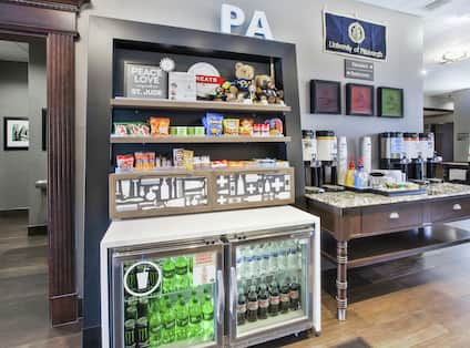Food and Beverage Space with Bottled Beverages and Teas