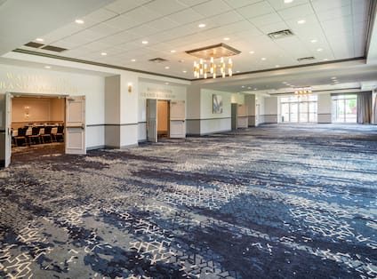 Pre-function space with entrance to meeting room