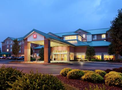 Nighttime Hotel Exterior