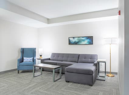 Sofa and Soft Chair in Accessible Suite