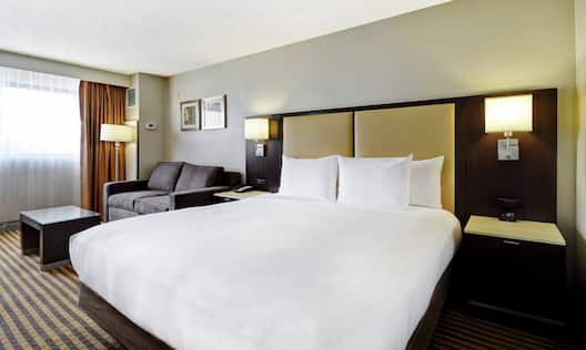Accessible Guest Room with King Bed and Sofa