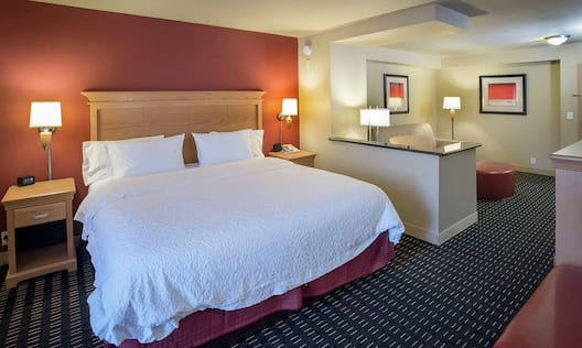 Guest Suite with King Bed and Living Area