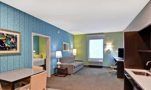 Living Area in One Bedroom Suite