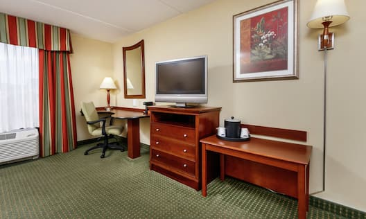 Accessible Double Queen With TV And Work Desk