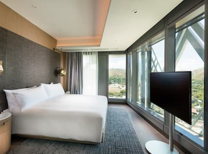 One King Bed Executive Suite with HDTV and Outside View