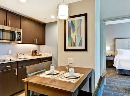 Suite Kitchen Area and Dining Table