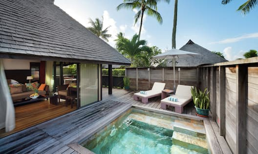 Private Patio with Pool in Deluxe Garden Bungalow