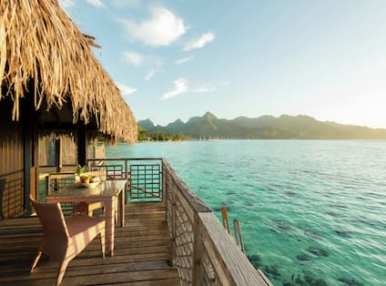 Overwater Bungalow Patio with View of Lagoon