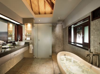 Overwater Bungalow Bathroom with Tub