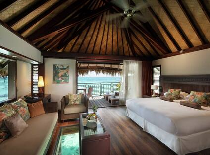 Overwater Bungalow Bedroom with Lagoon View