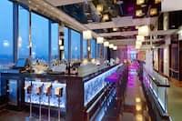 Hilton Prague Sky Bar at night
