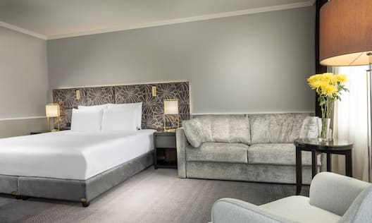 King Superior Room Sofa and King Bed