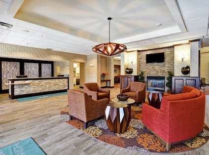 Lobby Seating and Front Reception Desk