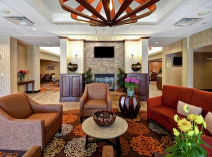 Comfortable Seating in Hotel Lobby