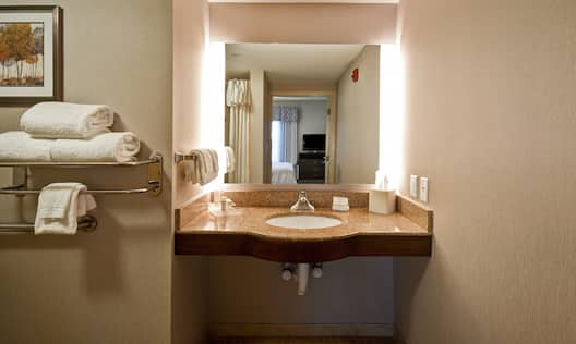 Accessible Bathroom Vanity and Towels