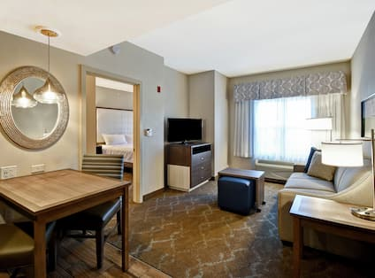 King Suite Living Area and Dining Table