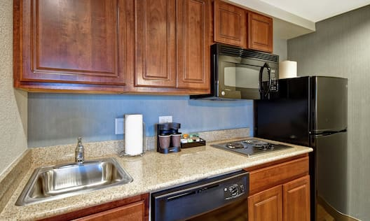 Suite Kitchen Counter and Appliances