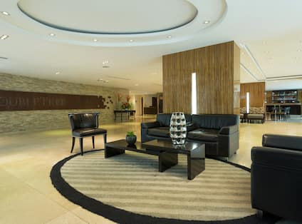Hotel Lobby Waiting Area with Soft Seats