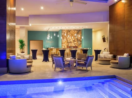 Hotel Pool Area With Bar