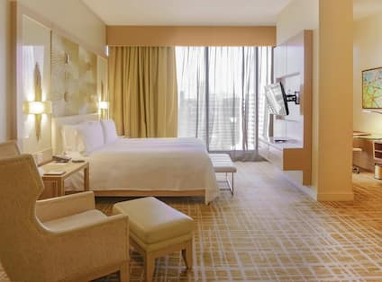King Deluxe Accessible Room with TV and Soft Chair