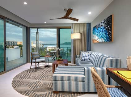 Living Area of Suite with Ocean View