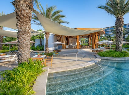 Paleta Bar by the Pool with Palm Trees