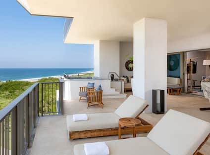 Lounge Seats in Terrace with Ocean View