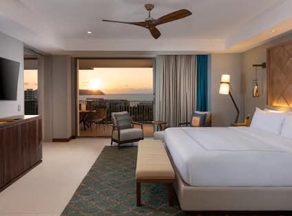 Superior Suite Bedroom with Ocean View