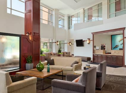 Hotel Lobby - Lounge and Front Desk