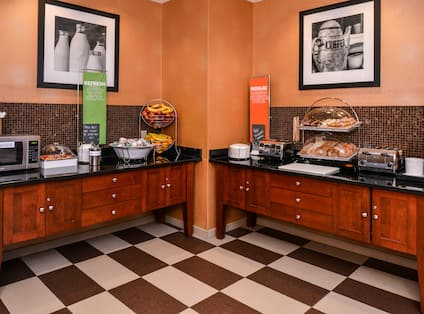 Breakfast Buffet Food Preperation Counters
