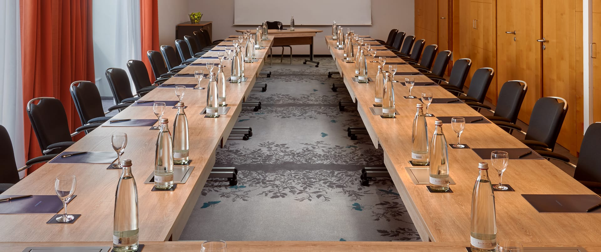 Long U-Shaped Meeting Table